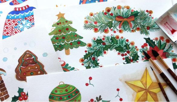 An illustrated advent calendar