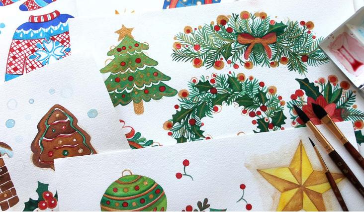 An illustrated advent calendar – New calendar designs