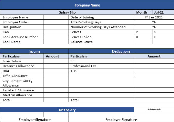 Salary-Pay-Slip-Format