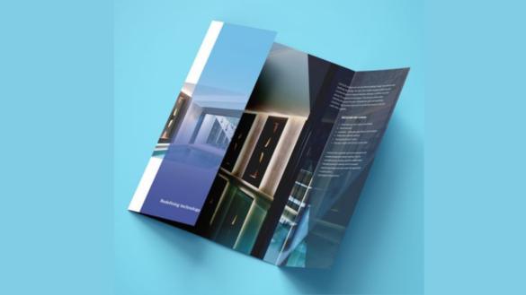 gate fold leaflet